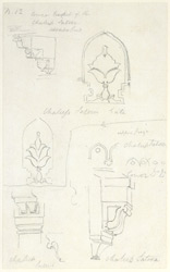 Drawing from a set of 16 architectural details in N. India made between 1786 and 1792 1806
